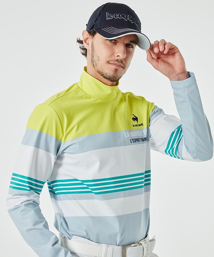 ルコック ポロ 【公式】ルコックスポルティフ ゴルフ ゴルファーズアドレスカッティング長袖ハイネックシャツ《吸汗速乾・UV(UPF15)・ストレッチ》 メンズ ウェア シャツ ポロシャツ ゴルフ ゴルフウェア スポーツウェア QGMSJB03