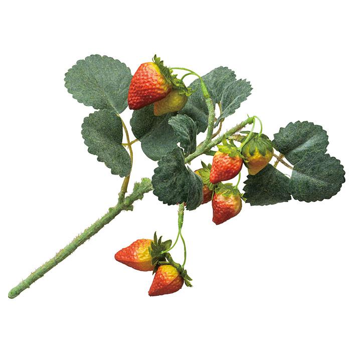 送料無料 造花 苺 アレンジ 店舗ディスプレイ フレッシュストロベリーブッシュ 6本セット春の訪れを感じさせるストロベリーブッシュ。店内を爽やかなイメージに。造花 苺 アレンジ 店舗ディスプレイ