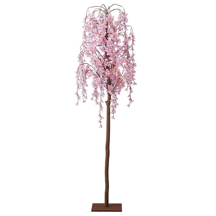 送料無料 格安 価格でご提供いたします 桜 造花 アレンジ 1台幹に天然木を使用した高級感のあるシダレ桜 特大 店舗ディスプレイ シダレ桜立ち木 SALE