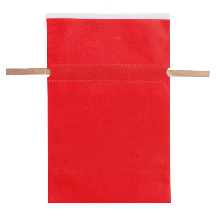 従来の不織布巾着に比べ安価で 色の発色も良い商品です クリスマス 不織布リボン付ギフトバッグ 受賞店 Lレッド 10枚 ラッピング 袋 ×底マチ12cmクリスマス 30 31×43 ランキングTOP10