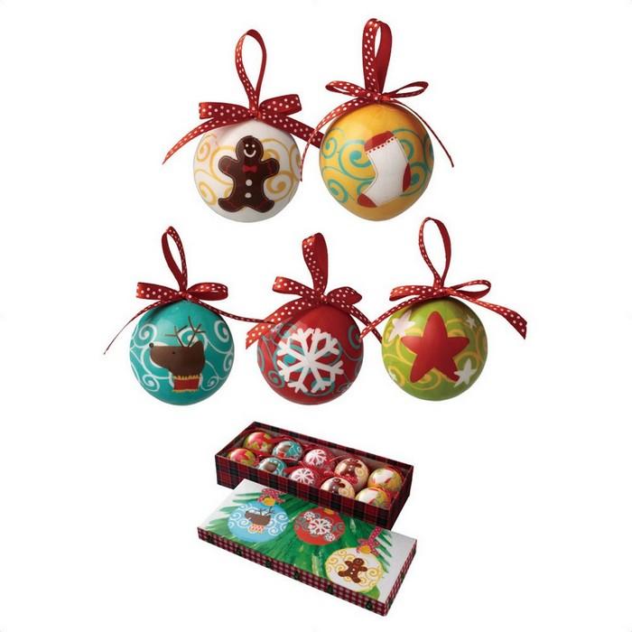 クリスマス 飾り 完売 クリスマスツリー オーナメント プリントボール カラフルキャラクターボール 10個クリスマス 国際ブランド