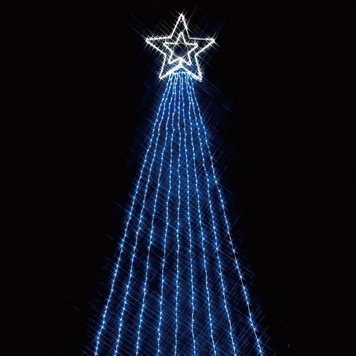 LED990球ドレープライト ブルー 1セット【クリスマス LEDライト】