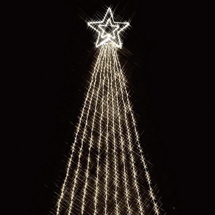 LED990球ドレープライト ホワイト 1セット【クリスマス LEDライト】