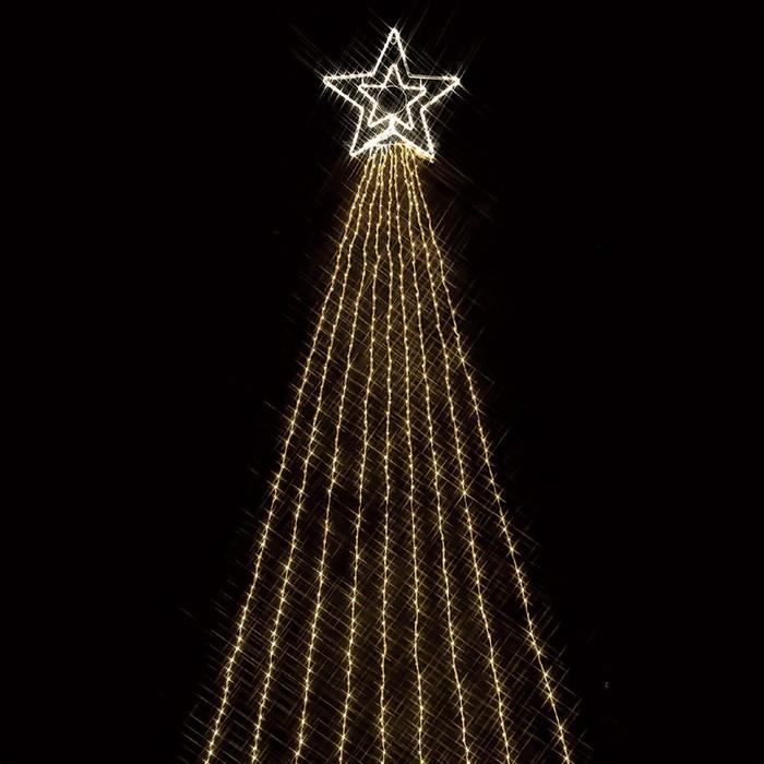 LED990球ドレープライト ゴールド 1セット【クリスマス LEDライト】