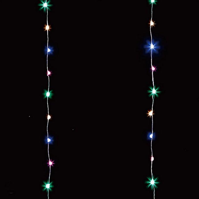 ワイヤーのコードが細いので目立たず カーテンなどに絡めて自在に装飾OK 新着 クリスマス ライト バースデー 記念日 ギフト 贈物 お勧め 通販 1セットクリスマス 1セット LEDワイヤーウォーターカーテンライト ミックス