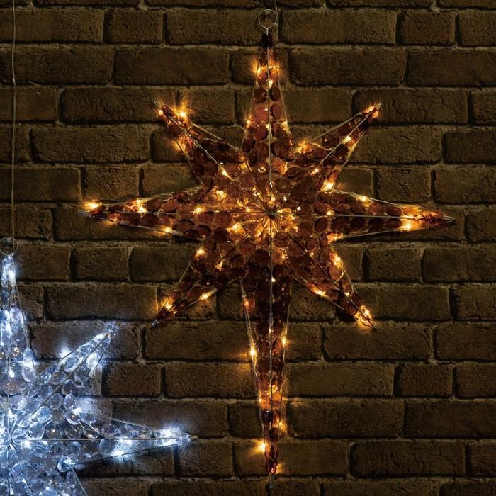 クリスタルビーズのスターモチーフ 壁面を華麗に演出 クリスマス ライト クリスタルビーズモチーフ アンバー 定番キャンバス 1 一部予約 個クリスマス デラックススター