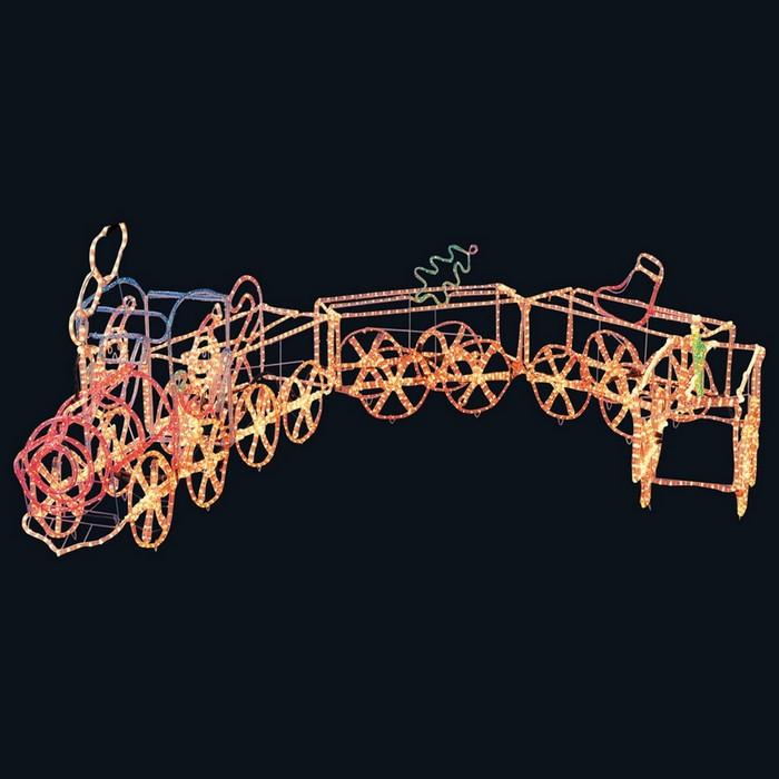 チューブライト ビッグ機関車 1セット【クリスマス ライト】