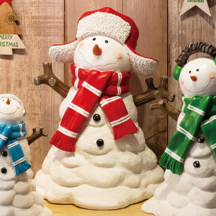 クリスマス 飾り クリスマス雑貨  スノーマンオブジェマフラー レッド 1台クリスマス 飾り クリスマス雑貨 オブジェ プレゼント
