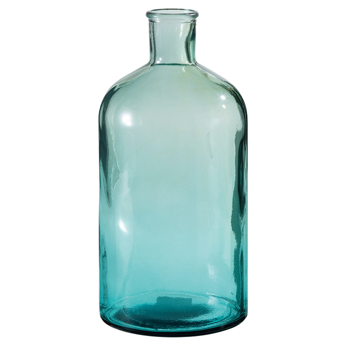 送料無料 花瓶 おしゃれ ガラス フラワーベース インテリア 雑貨 リサイクルガラスフラワーベース 大夏の店舗装飾に人気のマリンディスプレイにぴったりの、ガラス製の花瓶です。造花やフェイクグリーンを挿して飾るのがおすすめです。花瓶 おしゃれ ガラス フラワーベース インテリア 雑貨