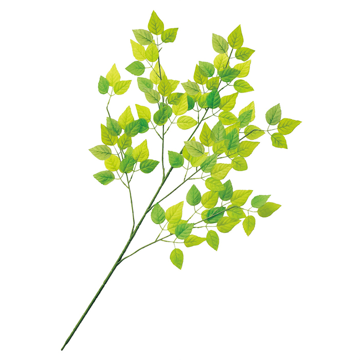 送料無料 安値 交換無料 フェイクグリーン 人工観葉植物 おしゃれ グリーンリーフ 大枝 人工素材でお手入れ不要 夏の爽やかな店内装飾にぴったりのグリーンスプレーです 6本セット1本から枝分かれしているスプレー