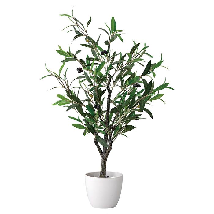 送料無料 売買 フェイクグリーン 人工観葉植物 おしゃれ オリーブ オフィスインテリアとしてもおすすめの人工観葉植物です オリーブ夏の爽やかな店内装飾にぴったりのインテリアグリーンです 消臭抗菌効果のある光触媒加工です 秀逸 人工素材でお手入れ不要