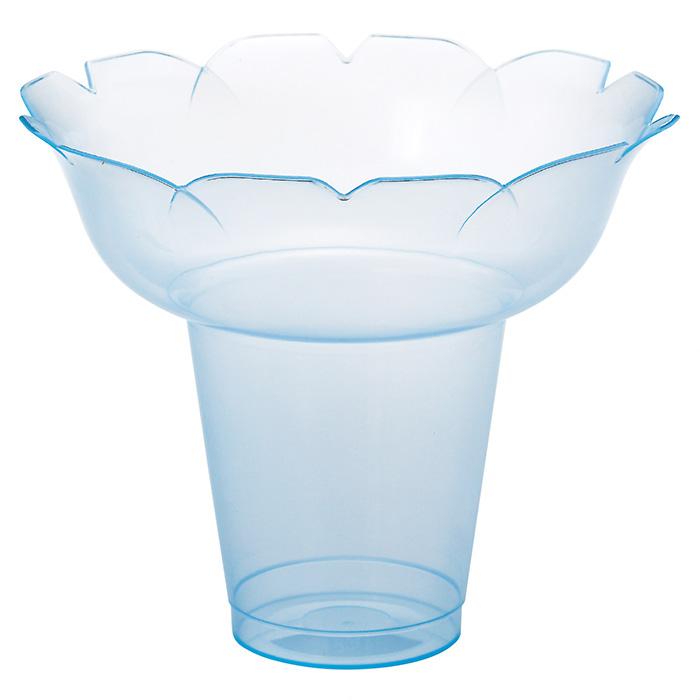 送料無料 テイクアウト 使い捨て容器 かき氷 業務用 プラスチック カップ かき氷カップ フラワー 小 ブルー 25個セットフラワー型の形状なのでフルーツなども盛りやすく、ボリューム感のあるかき氷が作れます。こぼれにくく持ちやすい形状なので食べ歩きにもピッタリ。テイクアウト 使い捨て容器 かき氷 業務用 プラスチック カップ