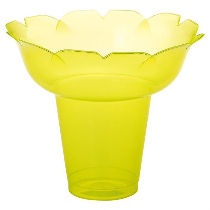 送料無料 テイクアウト 使い捨て容器 かき氷 業務用 プラスチック カップ かき氷カップ フラワー 小 イエロー 25個セットフラワー型の形状なのでフルーツなども盛りやすくボリューム感のあるかき氷が作れます。こぼれにくく持ちやすい形状なので食べ歩きにもピッタリ。テイクアウト 使い捨て容器 かき氷 業務用 プラスチック カップ