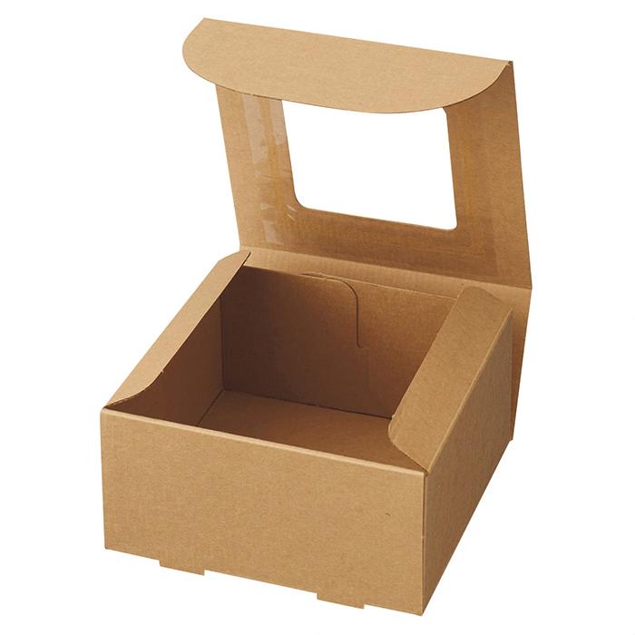 送料無料 ギフトボックス 箱 ラッピング ギフト パッケージ プレゼント 紙 フレームボックス 15×15×5cm 10枚透明フィルムの窓付きの箱です。中身を見せてギフトにすることができるボックスです。ギフトボックス 箱 ラッピング ギフト パッケージ プレゼント 紙
