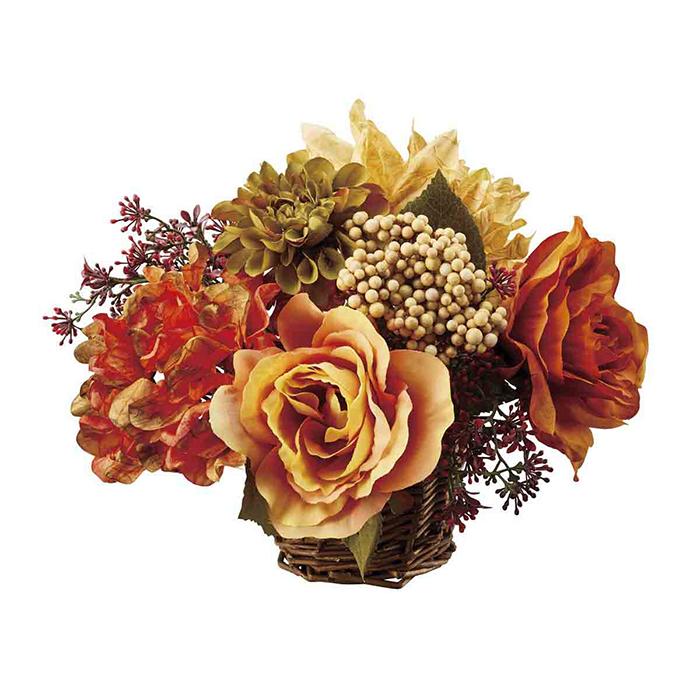送料無料 キャンペーンもお見逃しなく 秋 装飾 飾り 造花 1個おしゃれに秋を演出 ダリアミックスアレンジ おしゃれ 玄関 商舗