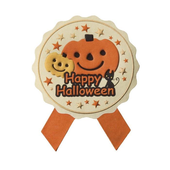 送料無料 ラッピング 百貨店 シール お菓子 プレゼント ラベル ハロウィンシール 貼るだけで簡単におしゃれなギフトラッピングに仕上がります リボン型 ランキング総合1位 ハロウィン 100枚かわいいかぼちゃの業務用大容量シール 小