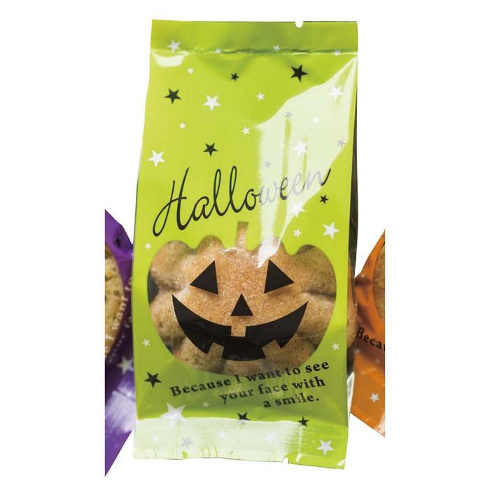 送料無料 ラッピング お菓子 袋 かわいい OPP 業務用 クッキー ハロウィン ブラックハロウィンスイーツパック 7×15×3cm 100枚食品対応加工の横マチのついたOPP袋で、クッキー等の包装にぴったりです。カボチャの顔部分は透明なので中身を見ることができます。ラッピング お菓子 袋 かわいい OPP 業務用 クッキー ハロウィン
