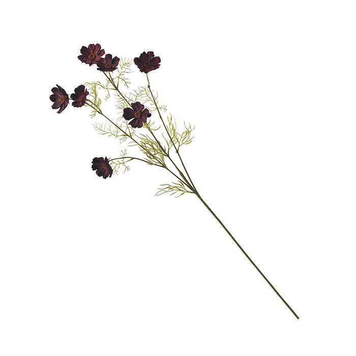 送料無料 秋 装飾 飾り 造花 おしゃれ 全国どこでも送料無料 豊富な品 チョコレートコスモススプレー 長さ74cm 玄関 落ち着いた秋色のコスモスでおしゃれに秋を演出 12本挿すだけ簡単 チョコ