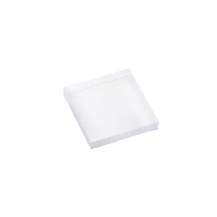 送料無料 クリアケース 透明 ギフトボックス ラッピング クリアボックス 箱 15×15×2.5cm 5個中身が見えるクリアタイプ 大放出セール 新品未使用 おしゃれ 紙パッキンなどとあわせたオシャレな詰合せも簡単です かぶせ式なので 包装 業務用