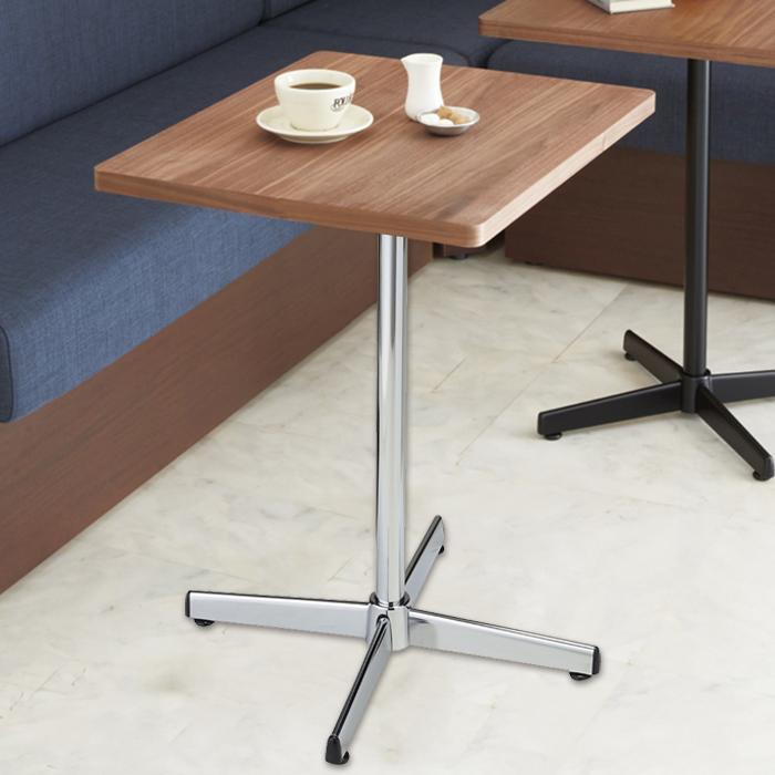 送料無料 カフェ テーブル 木製 おしゃれ テラス  カフェテーブル ウォールナット クローム脚 1台ここでしか買えない!ストア・エキスプレスオリジナル商品 組み立て簡単!天板と支柱を固定して脚に差し込むだけ!カフェ テーブル 木製 おしゃれ テラス