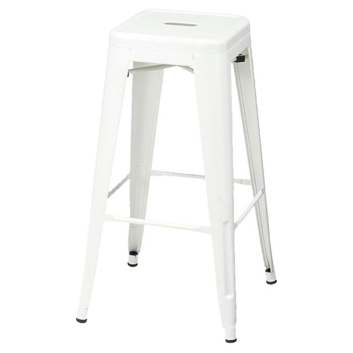 送料無料 カフェ チェア 椅子 スタッキング おしゃれ モダン スチール プレスハイスツール 座無し ホワイト 2脚ここでしか買えない!ストア・エキスプレスオリジナル商品 4台までスタッキングできます。カフェ チェア 椅子 スタッキング おしゃれ モダン スチール