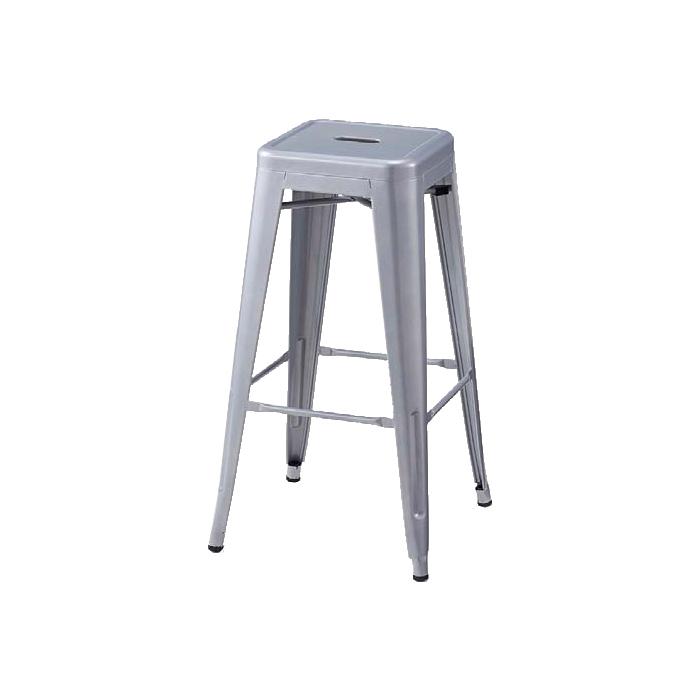 送料無料 カフェ チェア 椅子 スタッキング おしゃれ モダン スチール プレスハイスツール 座無し シルバー 2脚ここでしか買えない!ストア・エキスプレスオリジナル商品 4台までスタッキングできます。カフェ チェア 椅子 スタッキング おしゃれ モダン スチール