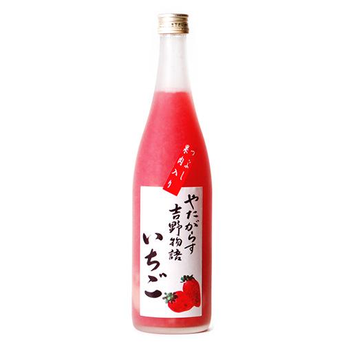 いちごの果実感があふれ出す!一度飲んだらやみつきになること間違いなし!【奈良の地酒】【日本酒】【奈良みやげ】【リキュール】【送料無料】 やたがらす吉野物語 いちご 720ml≪送料込≫