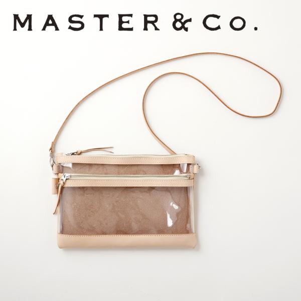 【MASTER&Co. マスターアンドコー】PVC サコッシュ■送料無料■レザー バッグ ビニール ハンドバッグ ショルダーバッグ 2way 3way MC1016