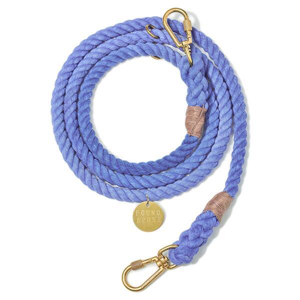 【FOUND MY ANIMAL ファウンドマイアニマル】Cotton Rope Dog Leash Adjustable アジャスタブルリード Periwinkle/パーウィンクル■ネコポス送料無料■
