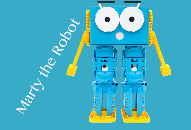 Marty the Robot マーティ ザ ロボット メカ好きな方へ!マサチューセッツ工科大学で開発された子供向けのプログラミング言語にも対応!