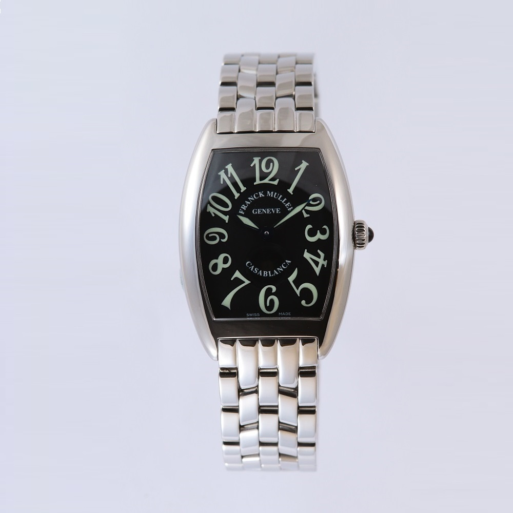 [フランクミュラー]新品・純正BOX付 FRANCK MULLER 腕時計 カサブランカ ブラック/ステンレスブレス 1752QZ レディース 【並行輸入品・1年保証】