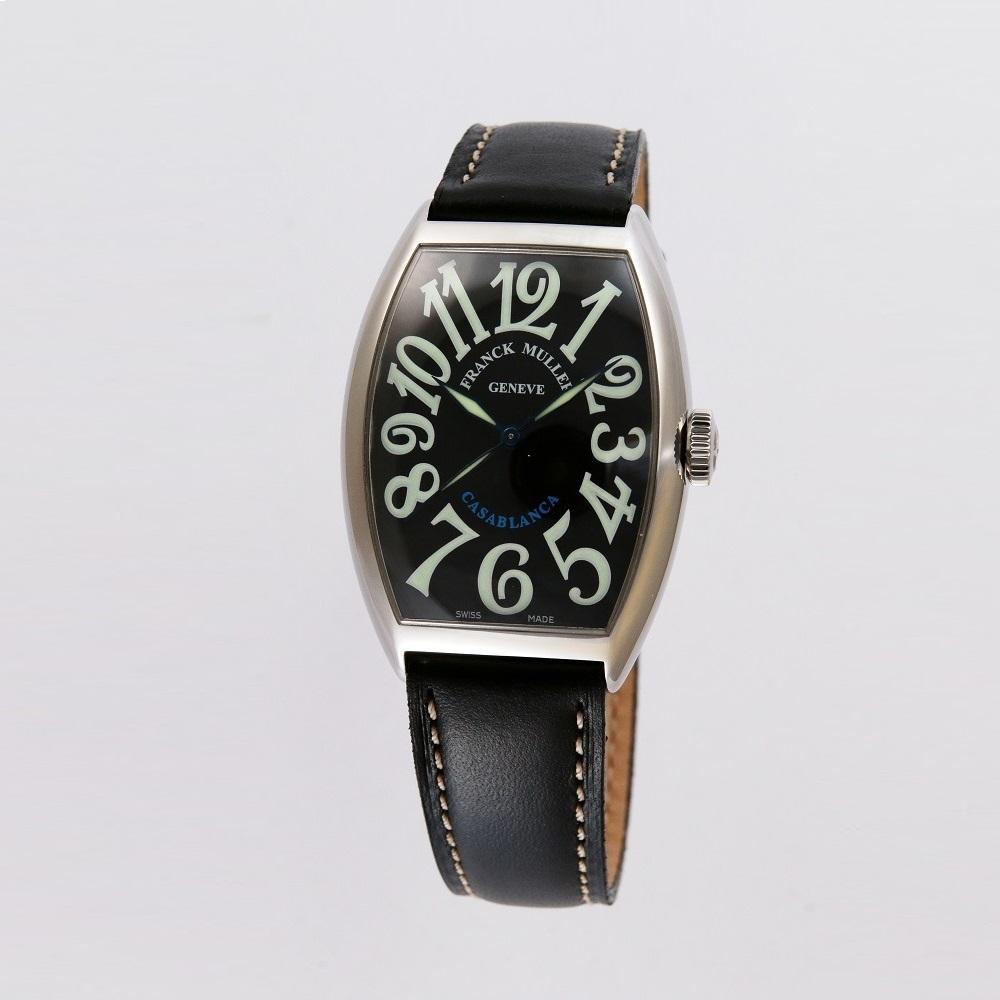 [フランクミュラー]新品・純正BOX付 FRANCK MULLER 腕時計 カサブランカ ブラック/カーフストラップ 自動巻 5850CASA メンズ 【並行輸入品・1年保証】