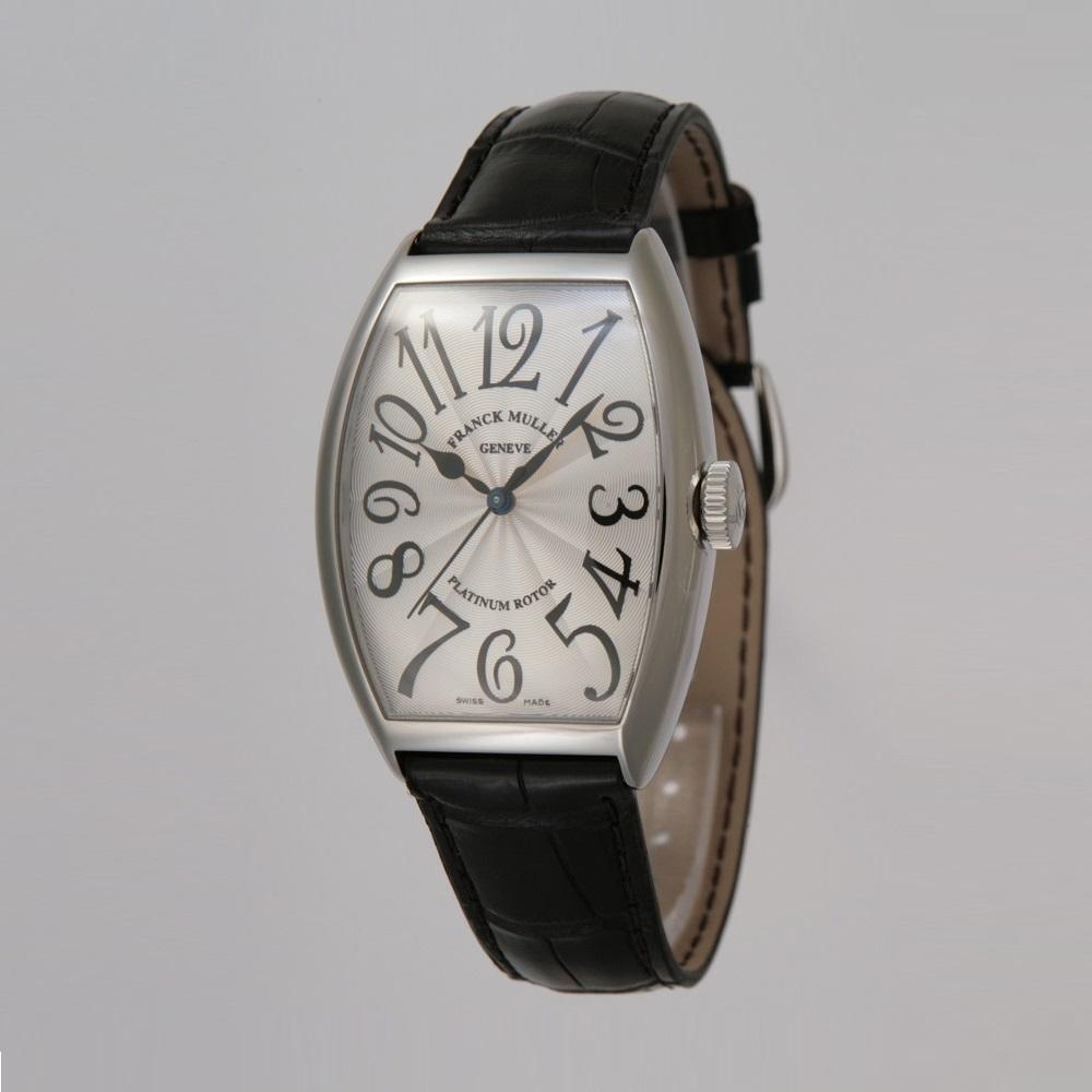 [フランクミュラー]新品・純正BOX付 FRANCK MULLER 腕時計 トノーカーベックス プラチナローター シルバー/クロコストラップ 自動巻 5850SC メンズ 【並行輸入品・1年保証】