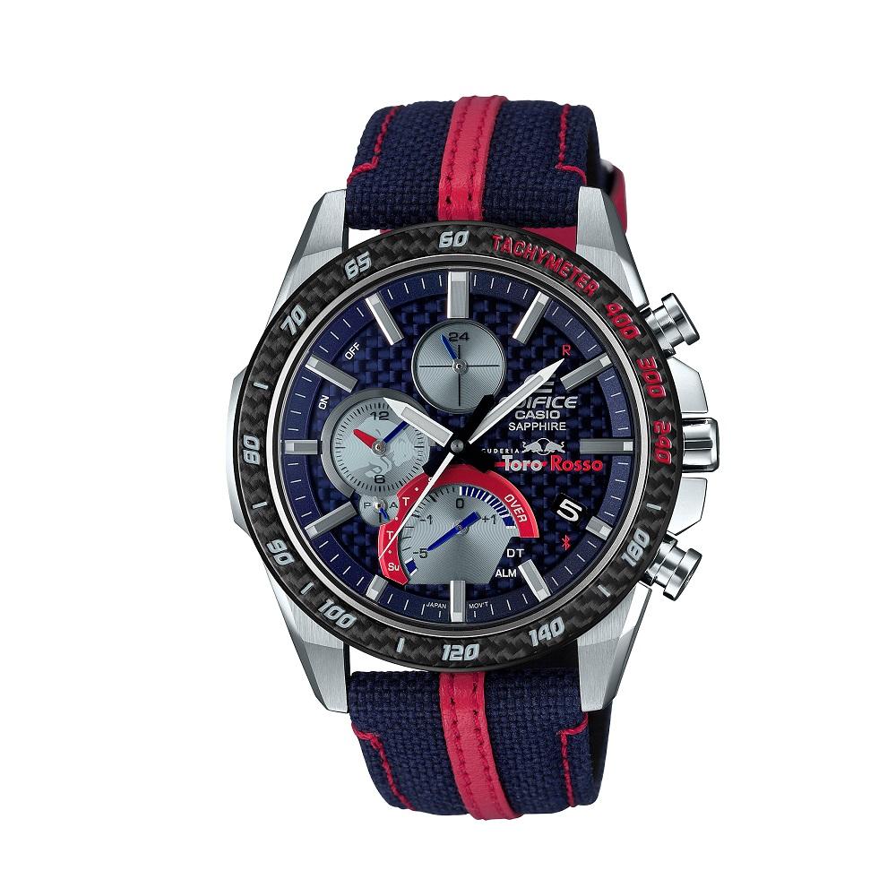 正規品 ラッピング無料 3年保証付 腕時計 市販 人気商品 2~4営業日発送 EDIFICE EQB-1000TR-2AJR エディフィス リミテッドエディション 本日限定 スクーデリア トロロッソ 安心の3年保証