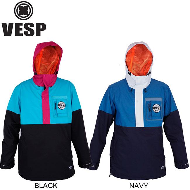 【VESP】DIGGERS PULLOVER JACKET SNOWBOARD WEAR(VPMJ18-06)(べスプ ディガー プルオーバー ジャケット スノーボード ウエア スノボー)18f/