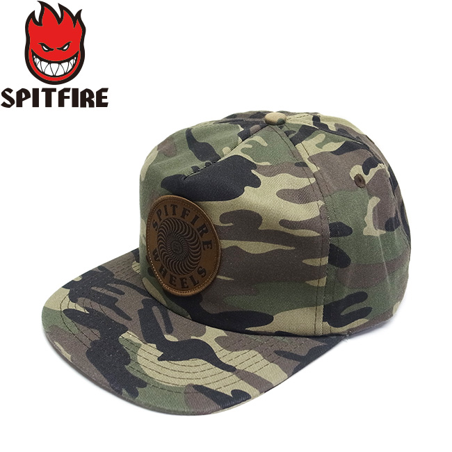 【SPITFIRE】OG SWIRL PATCH SNAPBACK CAP(CAMO)(スピットファイヤー スピットファイアー パッチ スナップバック キャップ 帽子 カモ 迷彩)19s/