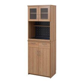 レンジ台 レンジ棚 レンジラック 食器棚 北欧 キッチン収納 スライド棚 付き 幅 60 高さ 180 ガラス扉 (通販ラボFAP-0019)★代引きでのお取り扱いは御座いません★メーカー直送品!◎組立家具◎沖縄・離島地域は送料の追加を頂きます。