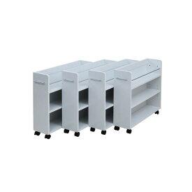 クローゼット 収納 ラック 本棚 4個セット 幅19 奥行78 キャスター付き ワゴン 家具 押入れ 収納 スライド 収納庫(通販ラボSGT-0130SET)★代引きでのお取り扱いは御座いません★メーカー直送品!◎組立家具◎沖縄・離島地域は送料の追加を頂きます。