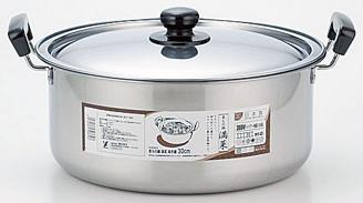 さびにくく 耐久性にも優れたステンレスのお鍋です 2160円以上送料無料 ヨシカワ 満菜 両手鍋30cm ステン煮物鍋 SH9864 卓出 往復送料無料