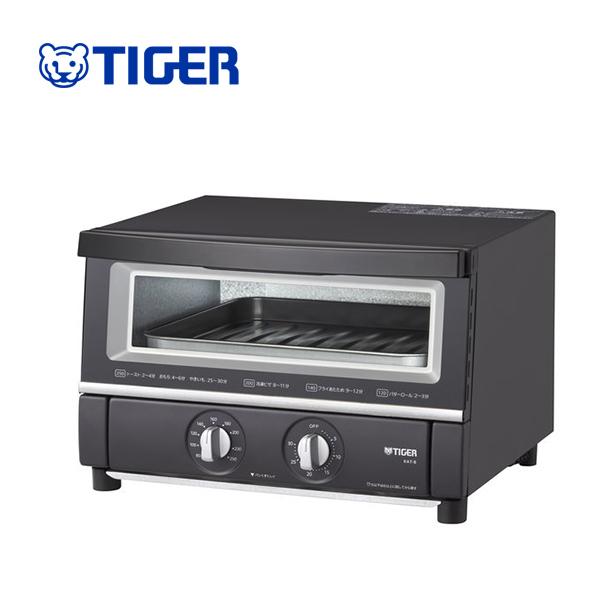 トースト1度に3枚焼き 【送料無料】タイガー魔法瓶 KAT-B130 KM オーブントースター マットブラック