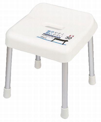 4本足の風呂椅子なので、清潔に使えます。 【2160円以上送料無料】スタイルピュア バススツール30cm(ホワイト) H-4335