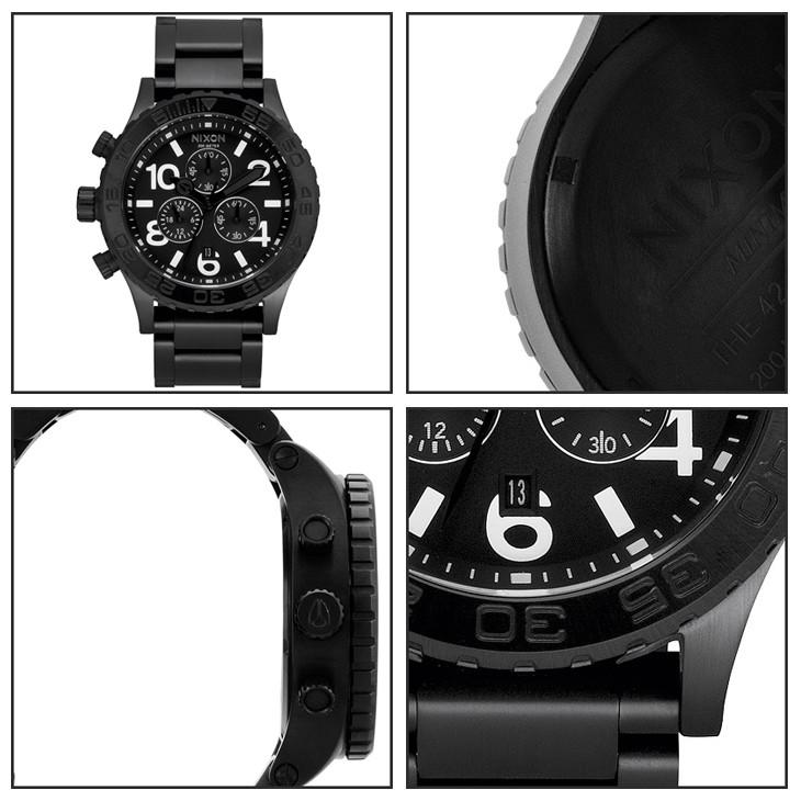 nixonが激安!全品!【日本 正規品】 NIXON(ニクソン) 腕時計 『42-20 CHRONO(42-20 クロノ)』  allBlack(オールブラック) ユニセックスモデル メンズ&レディース腕時計 オンライン正規取扱店