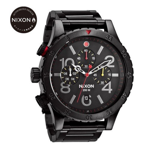 NIXON ニクソン 腕時計 メンズ腕時計 THE 48-20 CHRONO ALL BLACK / MULTI オールブラック/マルチ オンライン正規取扱店 日本正規品