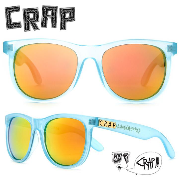 CRAP EYEWEAR クラップ アイウェア サングラス ヌーディーマグ #A28RO THE NUDiE MAG #141A28RO フレーム/Gloss Semitranslucent Sky Blue グロスセミトランスルーセントスカイブルー×レンズ/Reflective Orange リフレクティブオレンジ Lenses