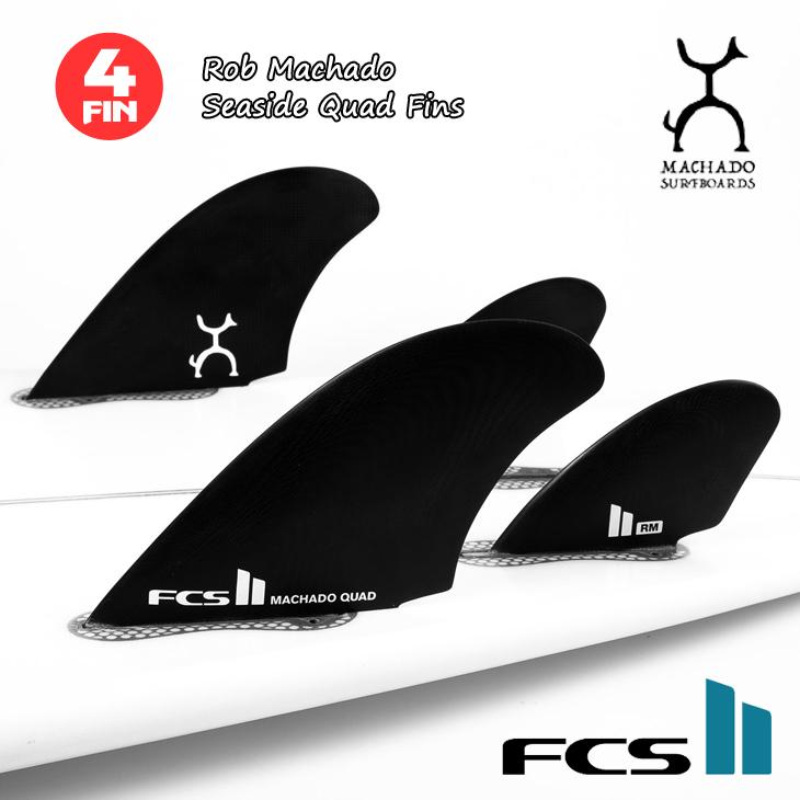 FCS2 フィン 4フィン パフォーマンスグラス ブラック ロブ マチャド シーサイド クワッド クアッド Rob Machado Seaside Quad Fins PG FCSII 日本正規品