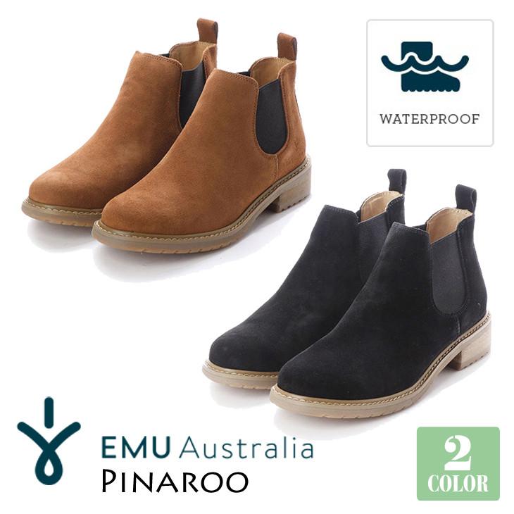EMU Australia エミュー オーストラリア ピナロー サイドゴアブーツ 防水 レインブーツ スエード オールシーズン Pinaroo 品番 W11991 日本正規品