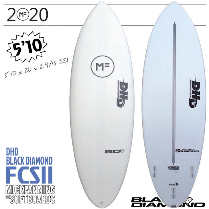 ミックファニング ソフトボード サーフボード ブラック ダイアモンド 5'10×20×2 9/16 DHD BLACK DIAMOND FCS2 3FIN MF SOFTBOARD×MICK FANNING 2020年モデル 品番 F20-MF-BDW-510 日本正規品