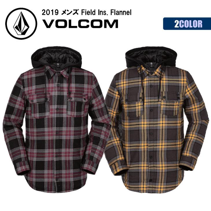 19 VOLCOM ボルコム スノー ジャケット フランネル チェック シャツ 長袖 ポケット メンズ 2019年モデル Field Ins. Flannel 品番 G0252000 日本正規品