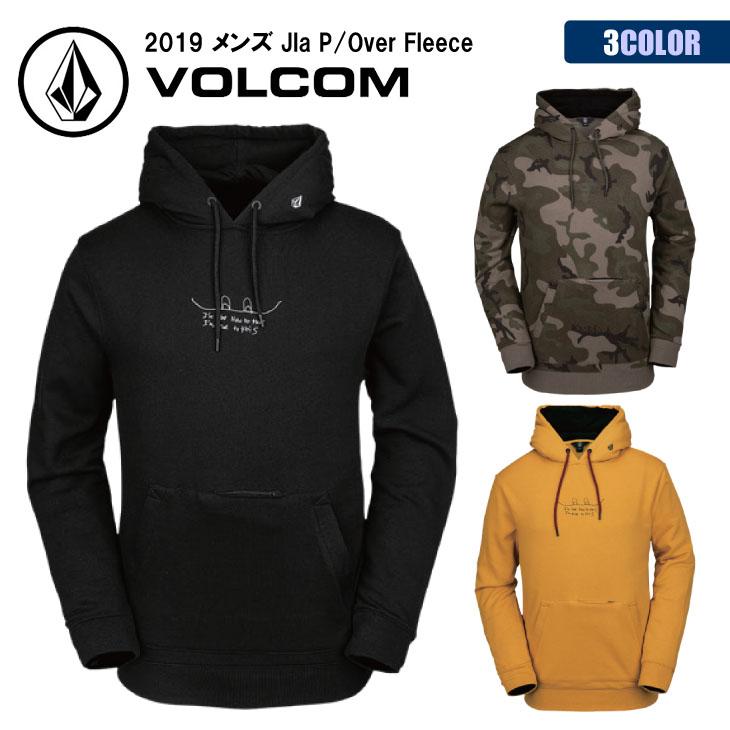 19 VOLCOM ボルコム スノー パーカー コットンポリ 隠しポケット メンズ 2019年モデル Jla P/Over Fleece 品番 G2452002 日本正規品