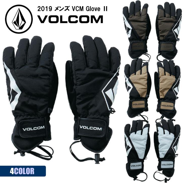 19 VOLCOM ボルコム スノー グローブ 5本指 手袋 スノーボード メンズ 2019年モデル VCM Glove 2 品番 J68520JA 日本正規品